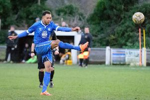 Nathan Frater was on target for Dunstable. Picture (c) Guy Wills