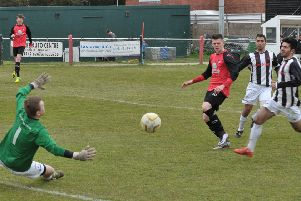 Lee Stobbs was on target for Tring against Hadley. Picture (c) Colin Sturges