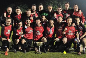 The Tring Athletic players were all smiles after winning the St Marys Cup. Picture (c) Colin Sturges