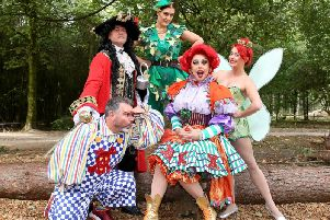 The cast of Peter Pan.