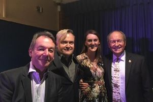 Eric Knowles, Nick Blanks, Roz Whittley and Charlie Ross at last year's event