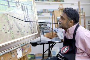 Keith Jansz, who paints with his mouth and foot after a car accident in 1995 is all set for a new exhibition in Northampton.