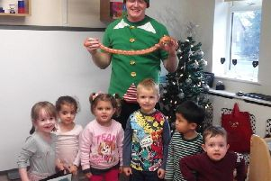 Grasshoppers Day Nursery kids get a special Christmas treat