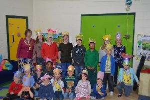 The Easter bonnet competition at the Jonathan Page Play Centre in Aylesbury, taken in 2017