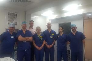 The Trust has installed temporary operating theatres on its site at Stoke Mandeville to help its ophthalmology team tackle a backlog of patients requiring cataract surgery.