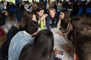 Students from AHS working alongside students from schools in France and Italy as part of an Erasmus+ scheme