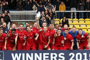 Aylesbury Flooring FC celebrate their win in the FA Sunday Cup - photo courtesy of Sports Shots