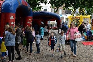 Library image of children's activities at Market Square, Aylesbury