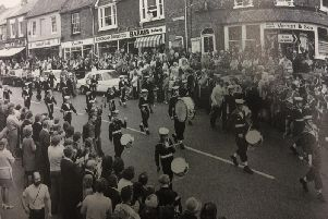 A marching band in Aylesbury celebrate the Queen's silver jubilee