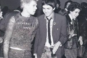 Kris Needs (right) with Paul Simonon of The Clash