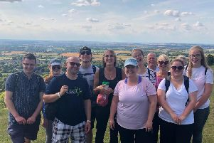 The Rumsey's team at the top of Whiteleaf Hill