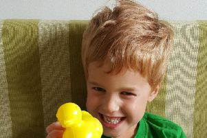 Harry and his family are taking part in the Duck Race