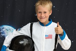 Moonday, celebrating the 50th anniversary of the moon landings, a free event put on by Aylesbury Town Council and UK Astonomy in Friars Square Shopping Centre -  - pictured is Alex Shepherd (11) who wants to be an astronaught PNL-190722-110559009