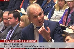Mr Lidington standing in for Theresa May at PMQs when he was leader of the House of Commons