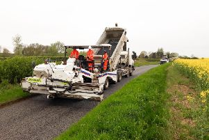 The Entyre Chipper Spreader - Bucks County Council's new piece of technology - in action