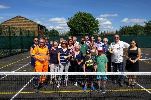 The opening of the refurbished courts