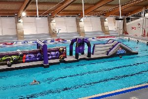 The giant inflatable which will be at the pool party