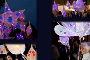 Lanterns like these will be made at the Festival of Light workshop