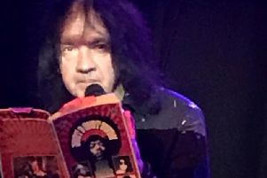 Kris Needs reading from the 1969 book at the launch