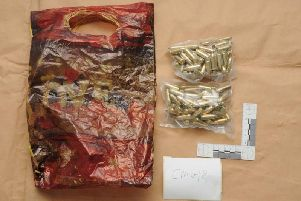 Bullets seized by police