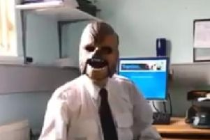 PSNI Constable, Chewbacca the Wookie.