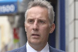 DUP MP Ian Paisley reacted angrily to remarks made by SDLP Mid and East Antrim councillor Declan O'Loan