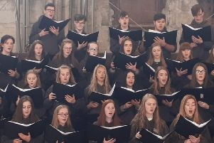A performance by Carrickfergus Grammar's choir.