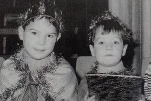 The three Kings who took part in a school performance at Carrick College - Stephen, Philip and Colin. 1991.
