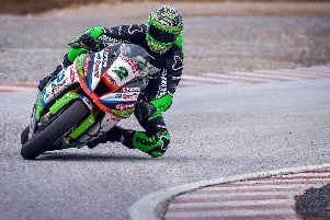 Glenn Irwin is getting to grips with his new Quattro Plant JG Speedfit Kawasaki Superbike at the official Bennetts British Superbike test at Monteblanco in Spain.