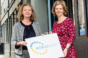 Roisin McKee, director, People 1st International and Carolyn Boyd, Tourism NI Industry Development manager.
