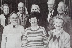 Members of the Carrickfergus Garden Society who held a plant sale at the YMCA. 1991