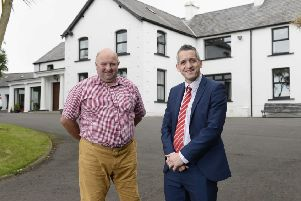 Tom McMaster (left) and Paul Reid, Business Development Manager at Ulster Bank.