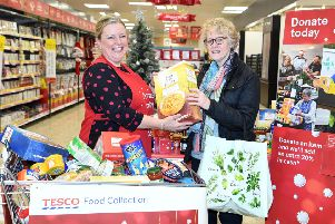 charities the Trussell Trust and FareShare are appealing to people across County Antrim to volunteer to help in the UK's biggest food collection for people in need. Submitted Image �Licensed to i-Images Picture Agency. Picture by Andrew Parsons / i-Images