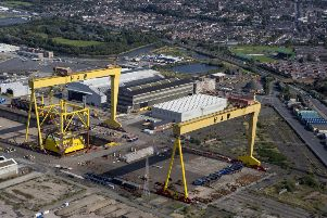 Harland and Wolff shipyard in Belfast.