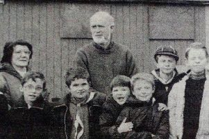 Some of Larne's scouts pictured before setting off on their sponsored walk.'1989