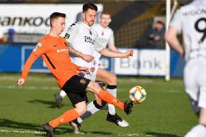 Crusaders recorded a 5-1 win over Carrick Rangers.