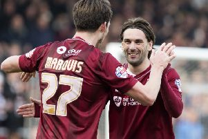 Alan Knight believes Ricky Holmes, right, & Co will have their minds on their summer holidays by the time champions-elect Northampton visit Fratton Park on the final game of the season Picture: Kirsty Edmonds