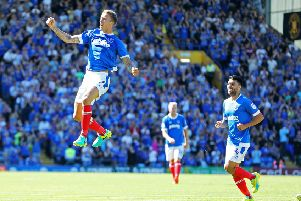 Carl Baker scored for Pompey in their season-opening 1-1 draw with Carlisle back in August     Picture: Joe Pepler