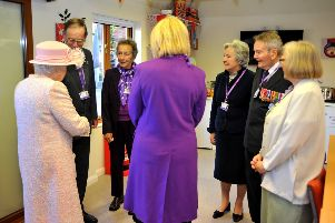 The Queen visited Canine Partners, Mill Lane, Heyshott, met one of the co founders. Pic Steve Robards SR1728903 SUS-171130-150932001