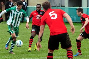 Lorenzo Dolcetti on the ball for Chi City / Picture by Kate Shemilt