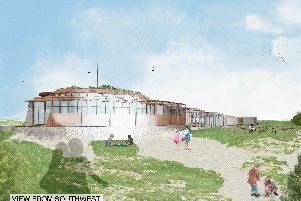 An artist's impression of what the new beach caf� in West Wittering could look like, presented in a consultation from West Wittering Estate on December 1.