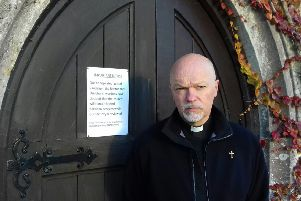 Father Andy Wilkes said he was sad the doors will have to be locked to St Peter's Selsey after repeated issues with vandalism.