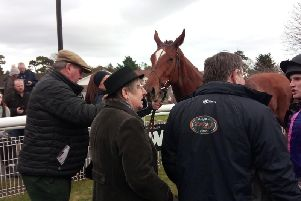 Connections celebrate Aiguille Rouge's win for Jamie and Gary Moore / Picture by Steve Bone