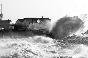 Huge waves in Selsey yesterday as Storm Eleanor hit. Picture: Coastal JJ