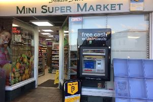 Mini Super Market at 2 Southdown Buildings, Southgate. January 2018.