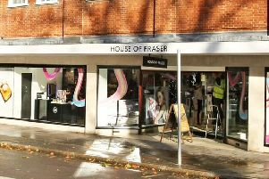 House of Fraser, Chichester. Pic: Derek Martin