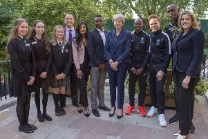 The Regis School's  Kendra Diston attends Soccer Aid Reception