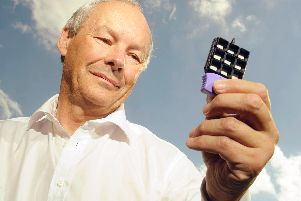 Dr Peter FitzGerald with the Biochip