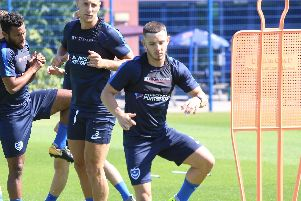 Conor Chaplin in Pompey's squad against Stevenage.
