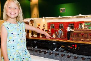 Local children have been having fun making LEGO brick models during a sneak preview of The Novium Museums new summer blockbuster exhibition. Bricks Britannia: A History of Britain in LEGO Bricks, features more than 30 stunning models built by Bright Bricks. Picture by Dan Stevens.